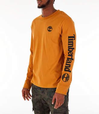 Timberland Men's Logo Long-Sleeve T-Shirt