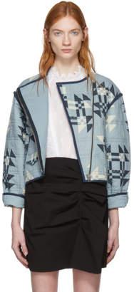 Isabel Marant Blue Lazel Origami Quilted Jacket