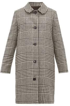 A.P.C. Peel Single Breasted Houndstooth Wool Coat - Womens - Black White