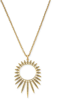 "Thalia Sodi Gold-Tone Crystal Sun Spike Long Pendant Necklace, 32"" + 3"" extender"