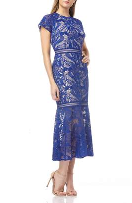 Kay Unger Lace Mermaid Cocktail Dress