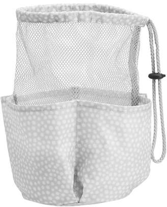 Pottery Barn Teen Drawstring Hanging Shower Caddy, Gray Mini Dot
