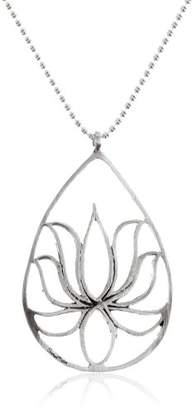 Satya Jewelry Sterling Teardrop Lotus Chain Necklace