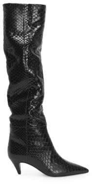Saint Laurent Charlotte Python Slouch Boots