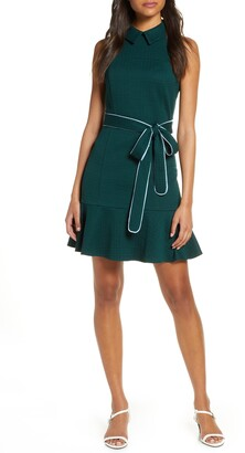 Eliza J Sleeveless Textured Fit & Flare Dress