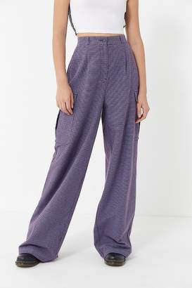 Urban Outfitters Natalia Plaid Wide-Leg Pant