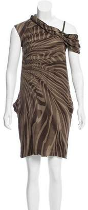 Gucci Asymmetrical Zebra Print Dress w/ Tags
