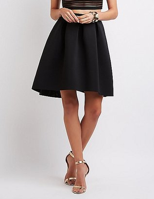 Full Pleated Scuba Skirt $26.99 thestylecure.com