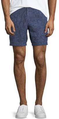 Michael Kors Men's Printed Linen Shorts