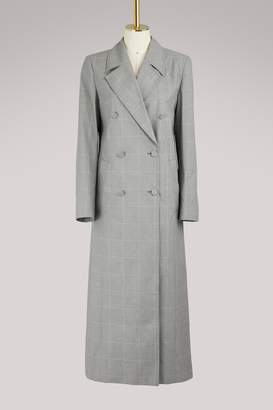 Off-White Off White Checked coat