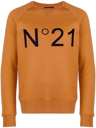 No.21 logo print jersey sweater