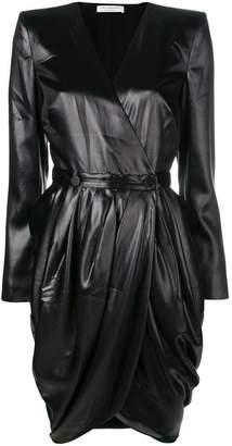 Philosophy di Lorenzo Serafini wrap front mini dress