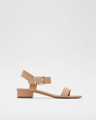 Express Buckle Strap Micro Heel Sandals