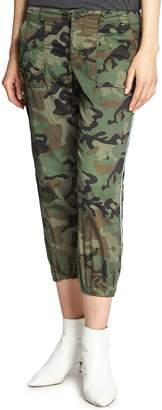 Sanctuary Peace Trooper Camo Side Stripe Crop Pants