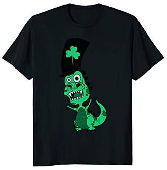 Hybrid St. Patty's green party dino Long Sleeve T