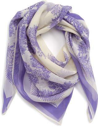Echo Floral Square Silk Scarf