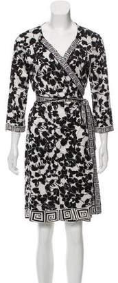 Diane von Furstenberg Printed Midi Wrap Dress