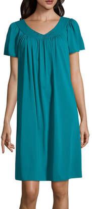 Asstd National Brand Miss Elaine Short Sleeve Short Gown