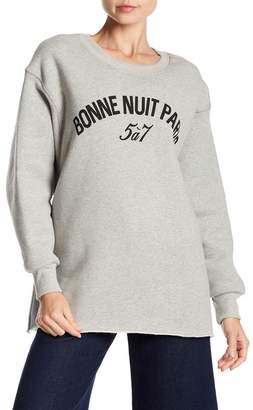 Cinq à Sept Ollie Fleece Lined Sweatshirt