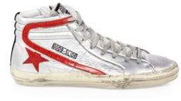 Golden Goose Metallic Hi-Top Sneakers