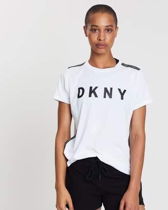 DKNY Short Sleeve Logo Tape Tee