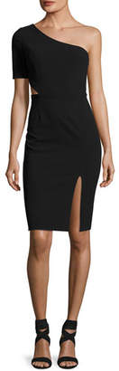Jill Stuart One-Shoulder Cutout Cocktail Dress, Black