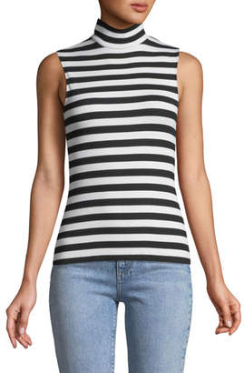 Bailey 44 Konstantin Striped Sleeveless Turtleneck Top