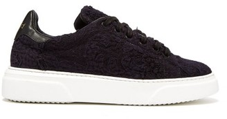 By Walid 19th Century Panelled Low Top Trainers - Womens - Indigo