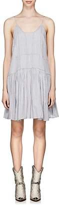 Etoile Isabel Marant Women's Amelie Embroidered Cotton Slip Dress - Lt. Blue