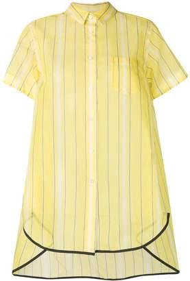Sacai striped loose-fit shirt