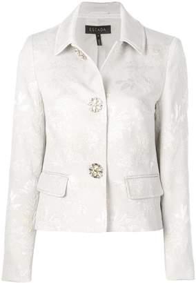 Escada floral-jacquard jacket