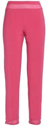 Calvin Klein Mesh-Trimmed Stretch-Modal Pajama Pants