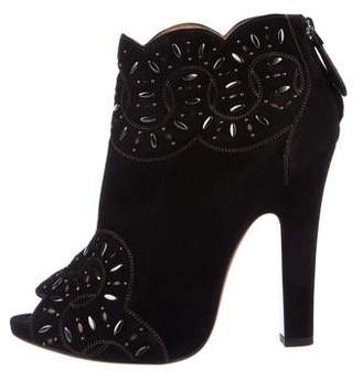 Alaia Suede Ankle Booties
