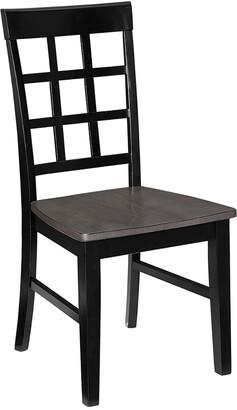 Progressive Furniture Set Of 2 Window Pane Dining Chair