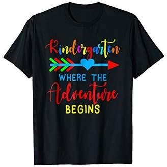Arrow Hearts Team Kindergarten Adventure Begins Funny Tshirt