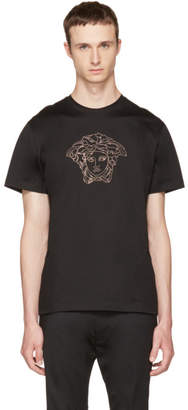 Versace Black Small Studded Medusa T-Shirt