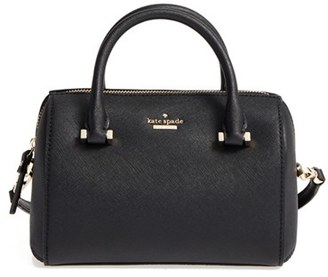 Kate Spade New York Cameron Street Lane Leather Satchel - Black $228 thestylecure.com