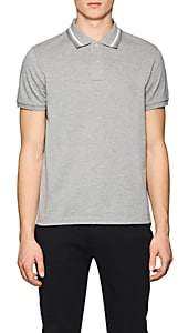 Moncler Men's Cotton Piqué Polo Shirt - Light Gray