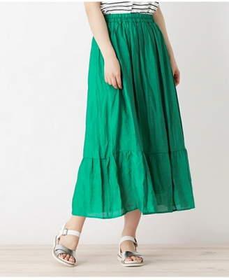 Grove (グローブ) - grove 裾切り替えマキシスカート グローブ スカート