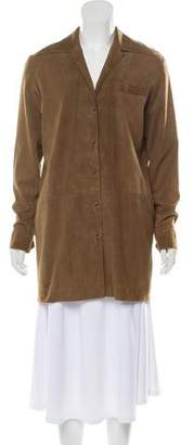 Hermes Long Sleeve Suede Coat