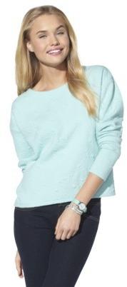 Xhilaration Junior's Textured Sweatshirt - Assorted Colors