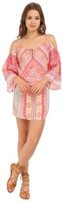 Hale Bob Hide and Go Chic Cold Shoulder Dress with Pockets Women's Dress