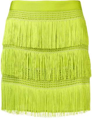 Alberta Ferretti fringed mini skirt