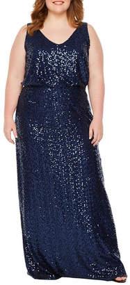 BLU SAGE Blu Sage Sleeveless Evening Gown - Plus