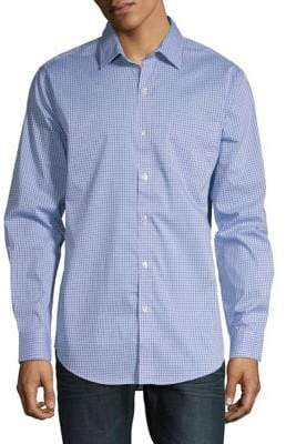 Van Heusen Long-Sleeve Woven Button-Down Shirt