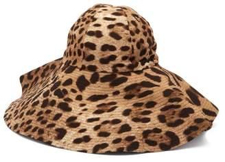 Dolce   Gabbana Leopard Print Felt Hat - Womens - Brown f3cb702a0db