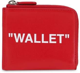 "Off-White Off White ""Wallet"" Leather Zip Around Wallet"