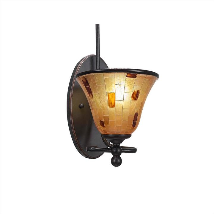 Cambridge Silversmiths Cambridge 1-Light Dark Granite Sconce with Gold Resin