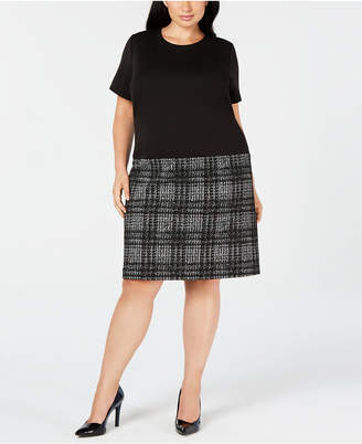 Calvin Klein Trendy Plus Size Drop-Waist Shift Dress