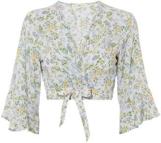 Nightcap Clothing Floral Wrap Crop Top